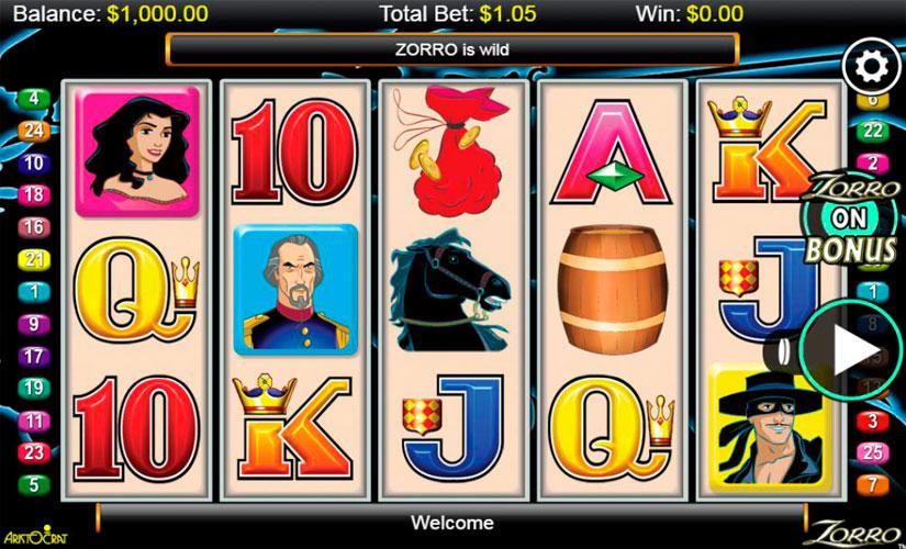 Zorro Slot Machine Review