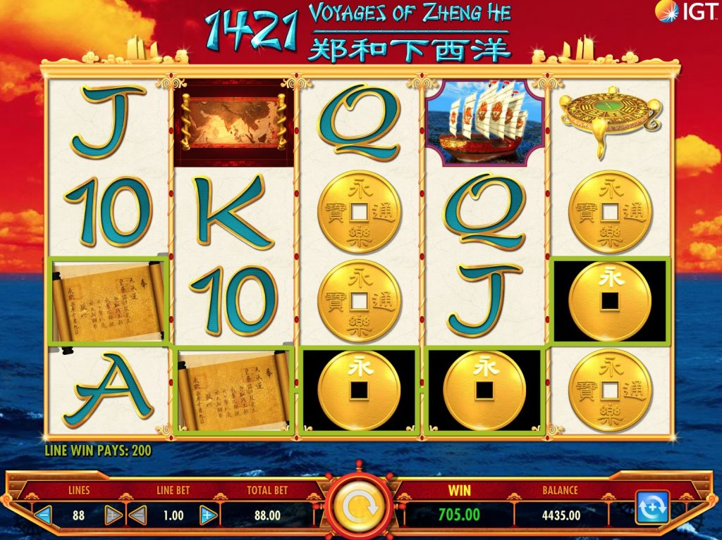 1421 Voyages of Zheng He Slot Machine Review