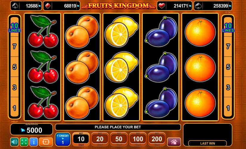 Fruits Kingdom Slot Machine Review