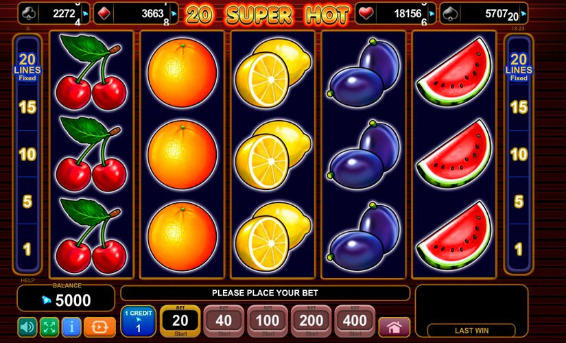 20 Super Hot Slot Machine Review