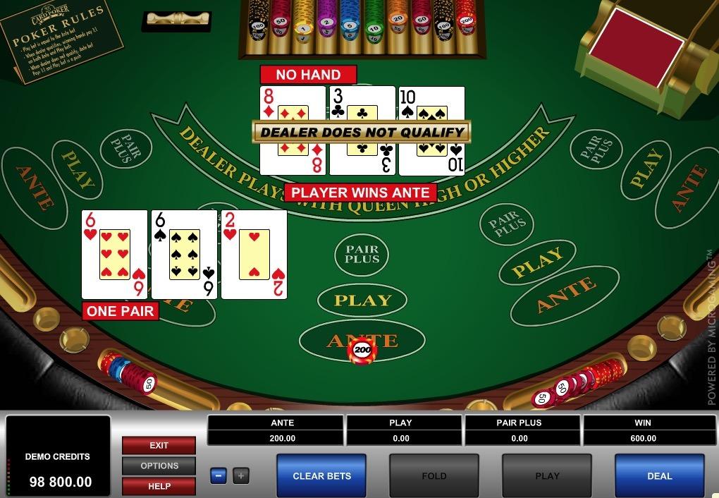 3 Card Poker Online