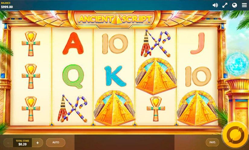 Ancient Script Slot Machine Online