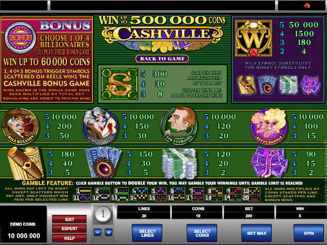 Cashville Slot Game Online