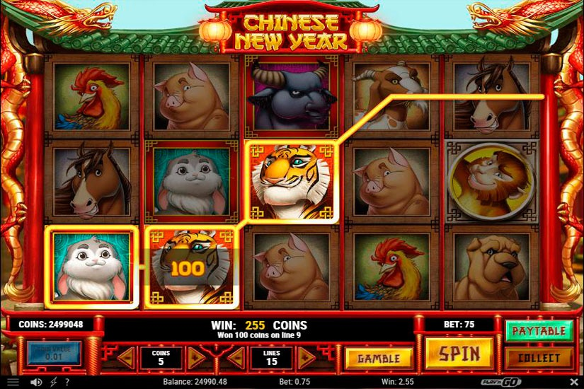Chinese new year slot machine