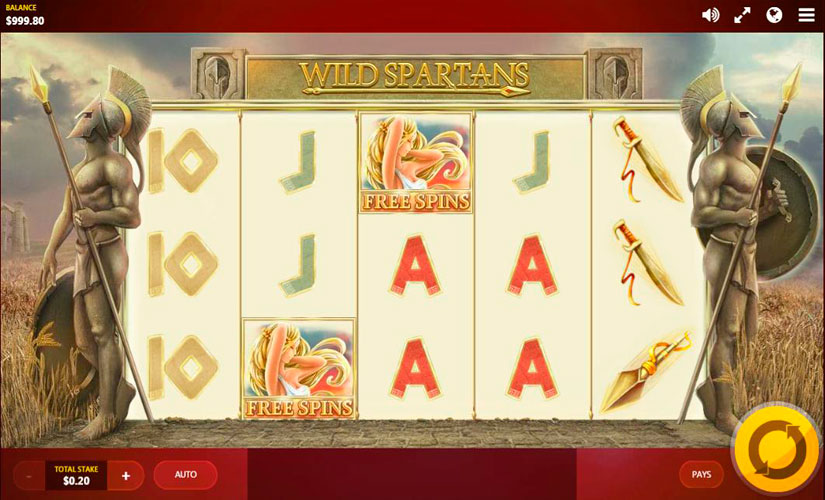 Wild Spartans Slot Machine Online