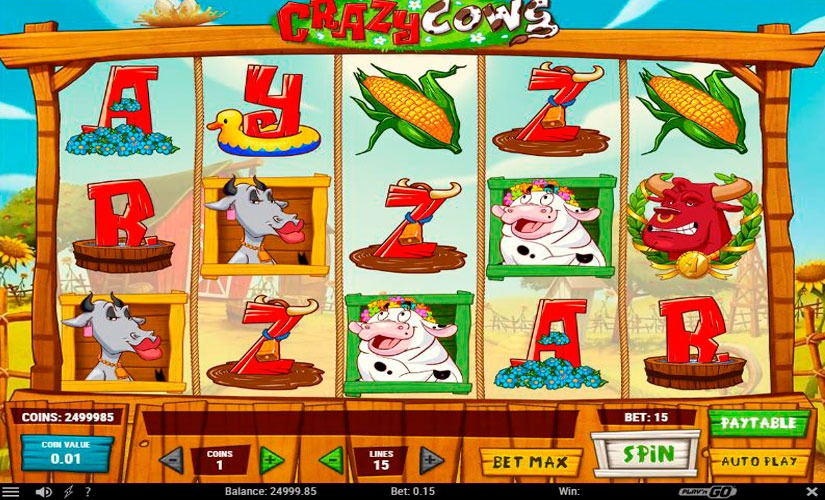 Crazy Cows Slot Machine Review