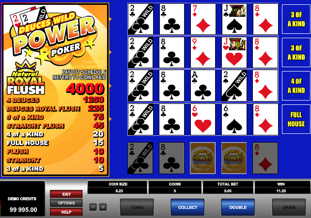 Deuces Wild Power Poker Online