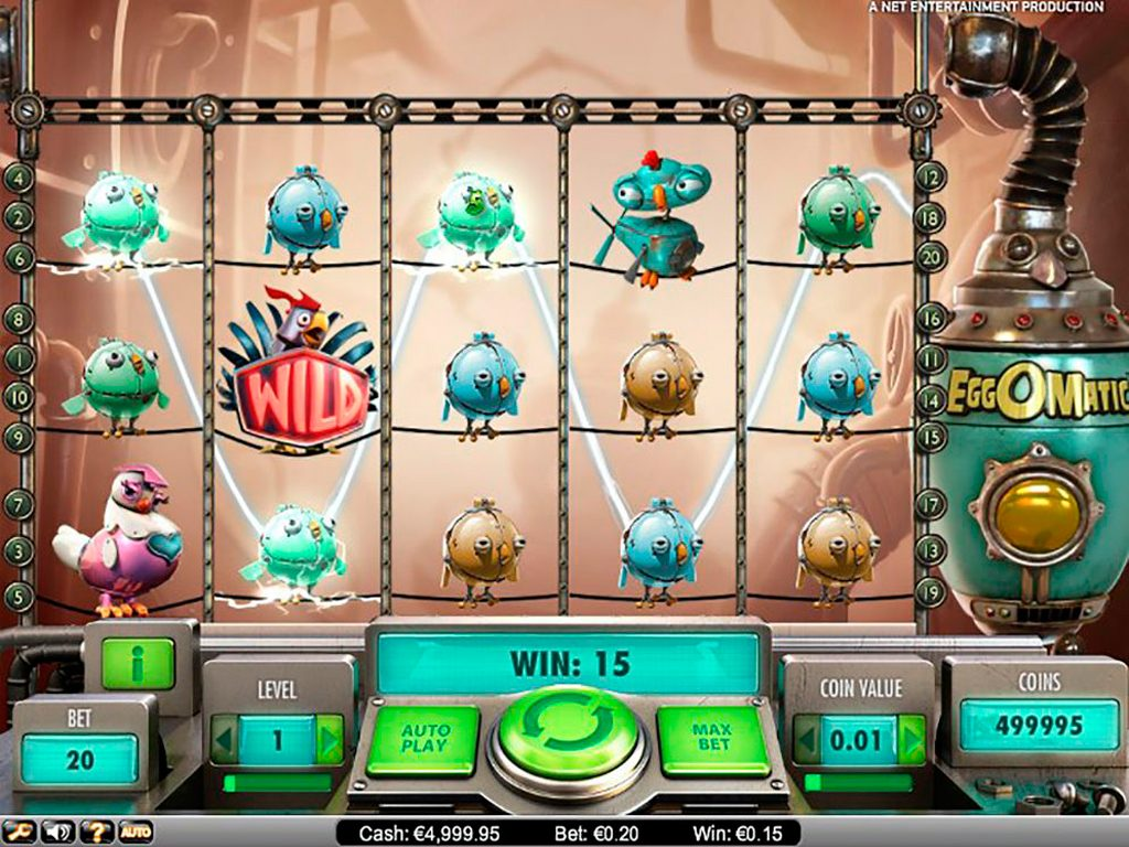 EggOMatic Slot Machine Game