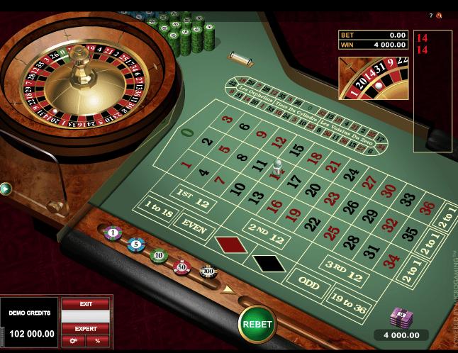 European Roulette Gold Online