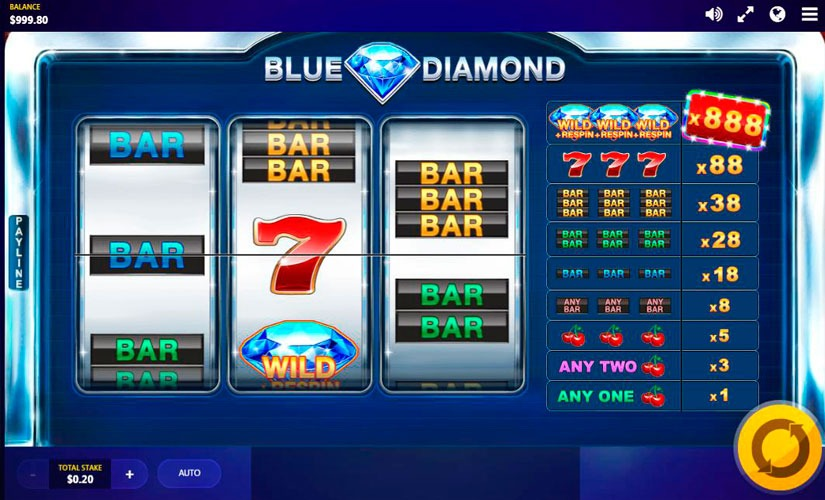 Blue Diamond Slot Machine
