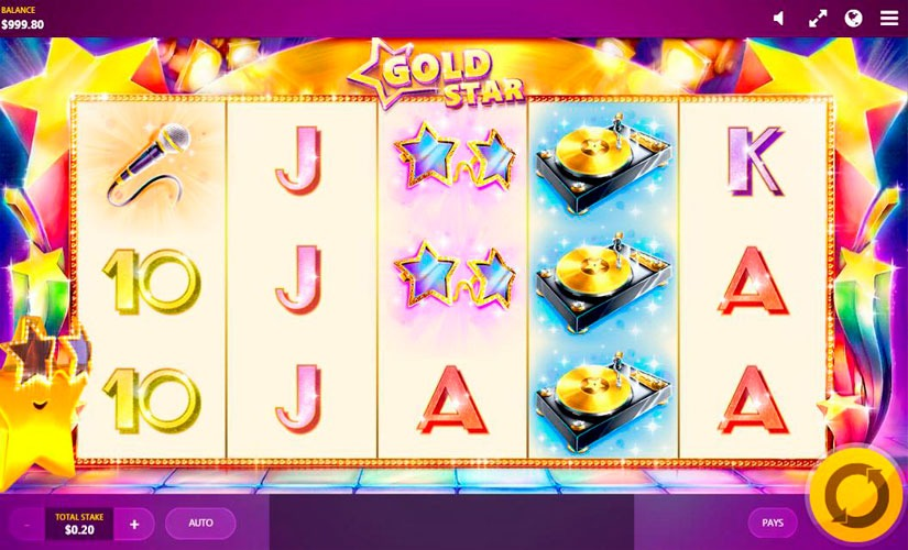 Gold Star Slot Machine Online