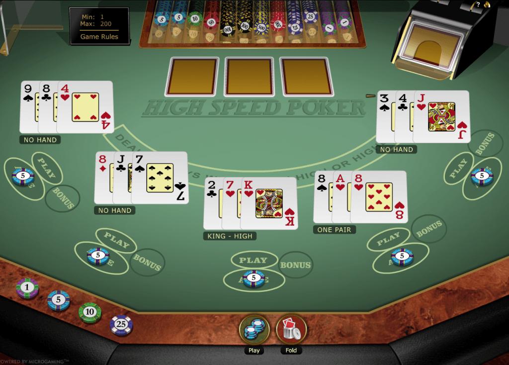 High Speed Poker Gold Series Online