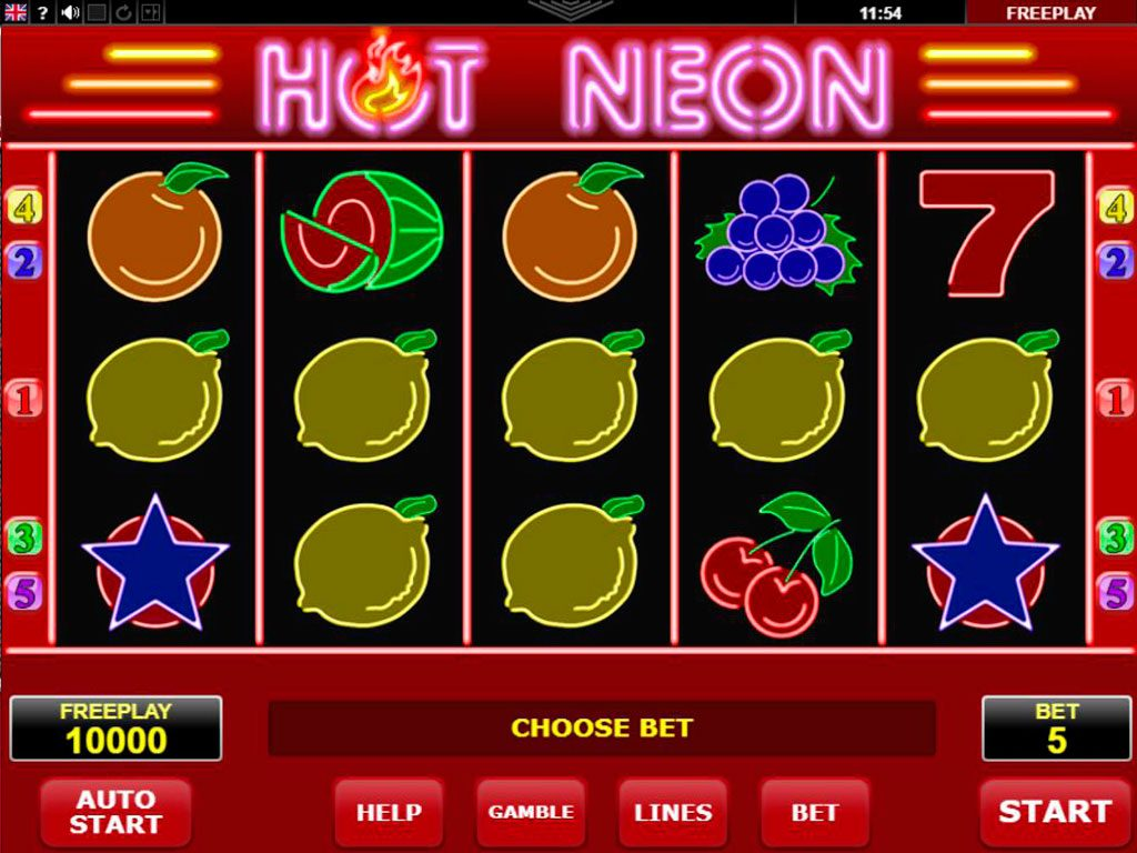 Hot Neon Slot Machine Review