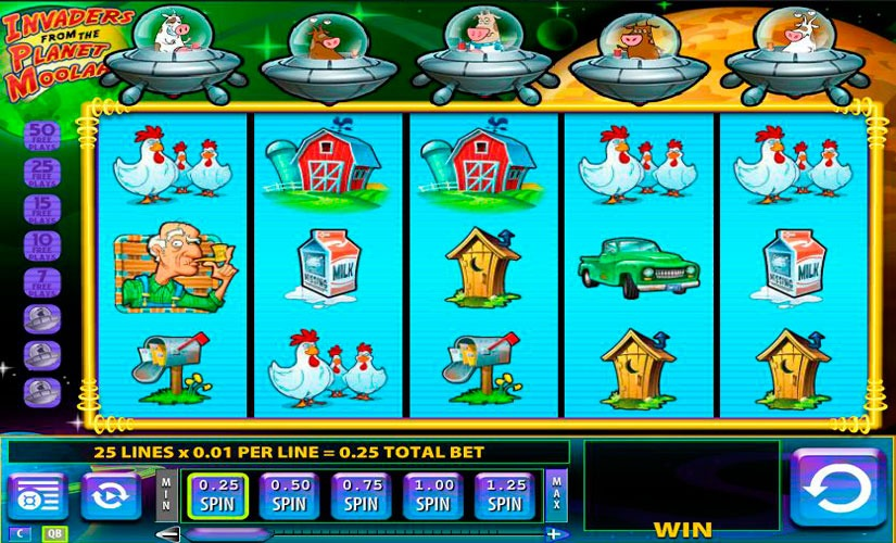 Invaders from the Planet Moolah Slot Machine Online
