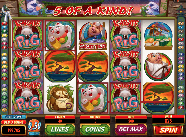 Karate Pig Slot Machine Online