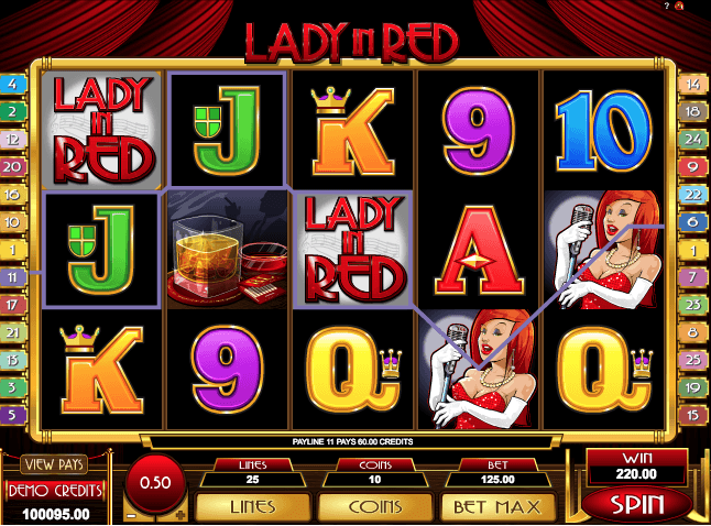 Lady In Red Slot Machine Online
