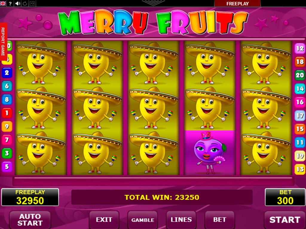 Merry Fruits Slot Machine Review