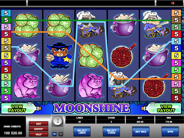 Moonshine Slot Machine Online