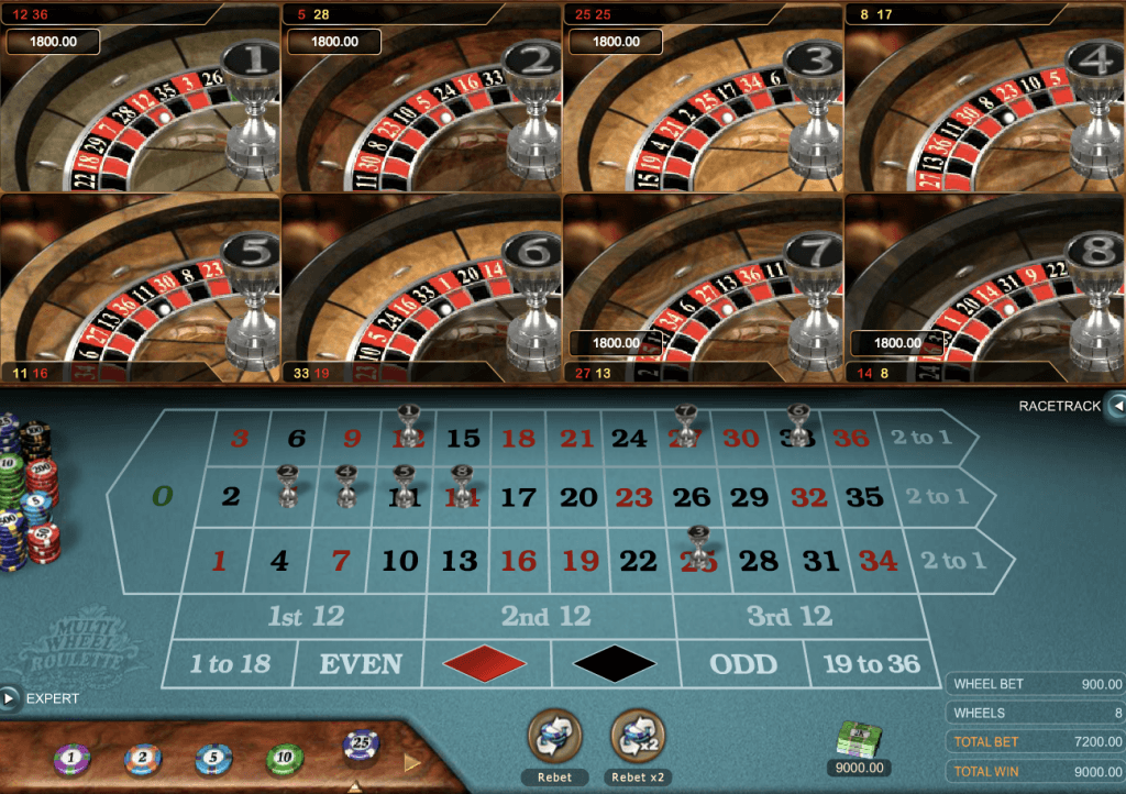 Multi Wheel Roulette Gold Online