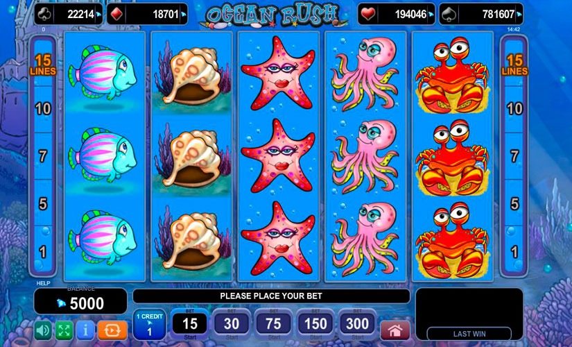 Ocean Rush Slot Machine Review