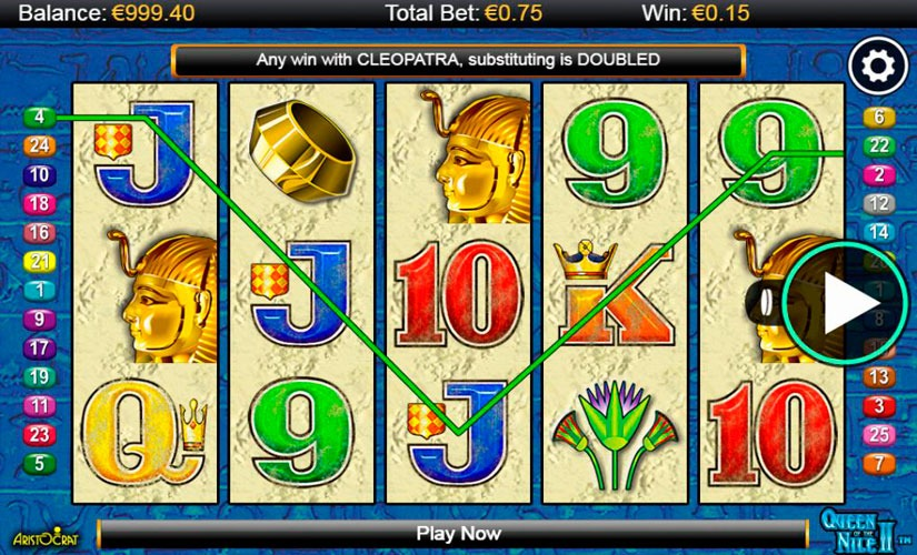 Queen of the Nile II Slot Machine Online