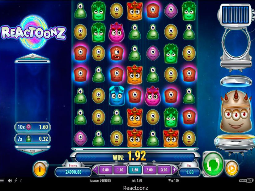 Reactoonz Slot Machine Review