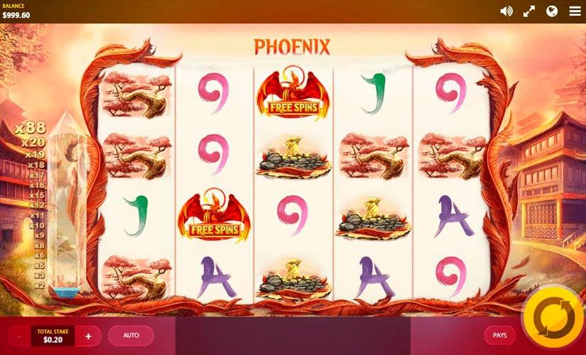 Red Phoenix Rising Slot Machine Online