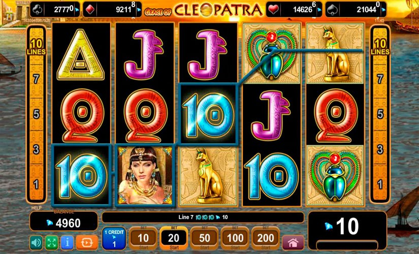 Grace of Cleopatra Slot Machine Review
