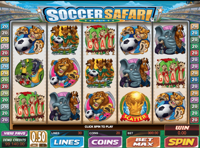 Soccer Safari Slot Game Online