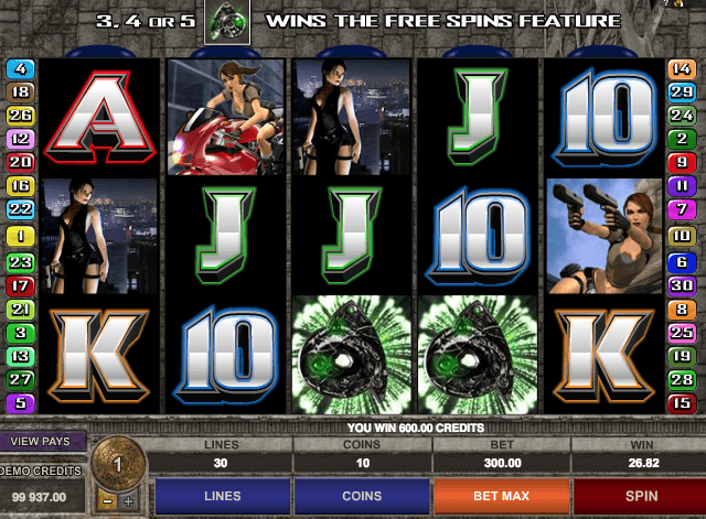 Tomb Raider 2 Slot Machine Online
