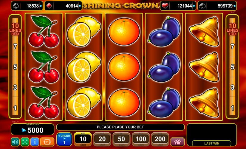 Shining Crown Slot Machine Review