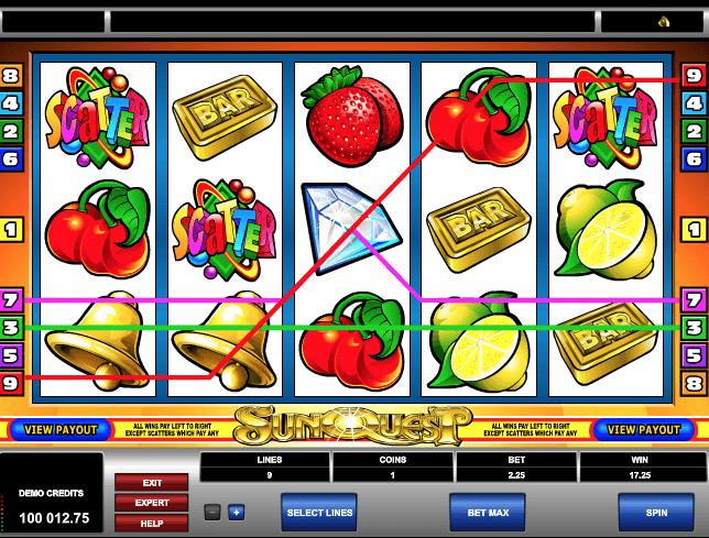 Sun Quest Slot Machine Online