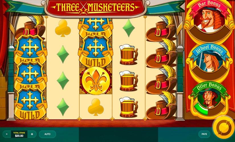 Three Musketeers Slot Machine Online