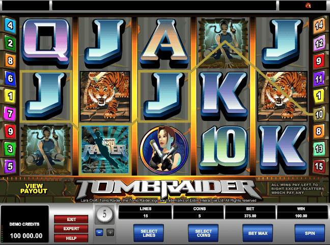 Tomb Raider Slot Machine Online