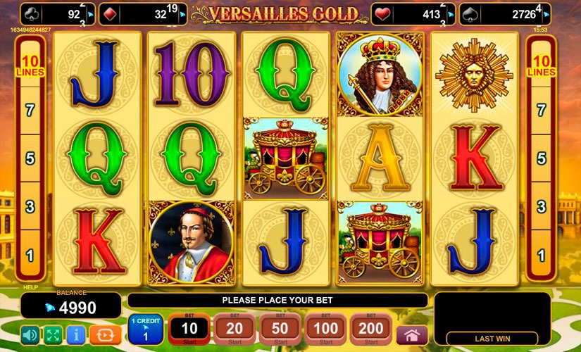 Versailles Gold Slot Machine Review
