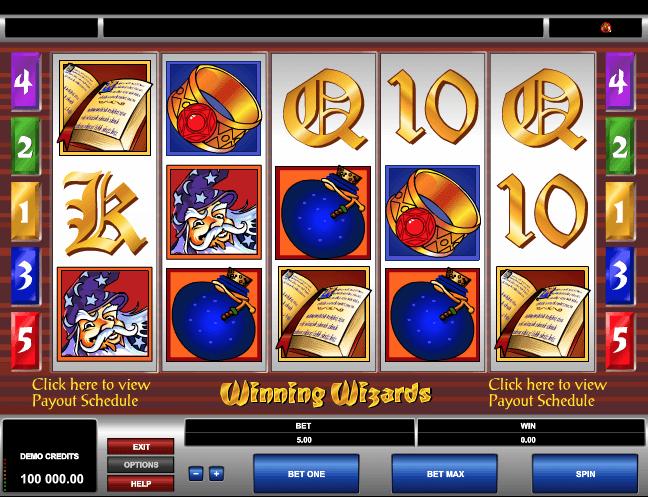Winning Wizards Slot Game Online