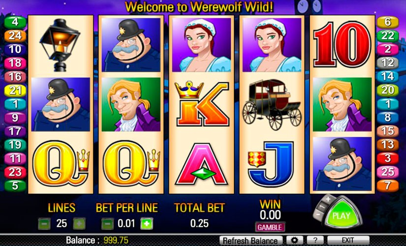 Werewolf Wild Slot Machine Online
