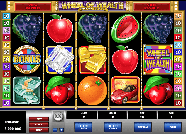 Wheel Of Wealth Special Edition Slot Game Online