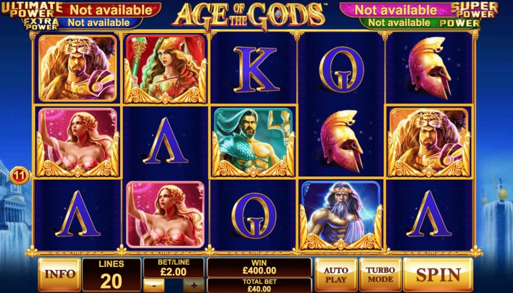 Age of The Gods Slot Machine Review