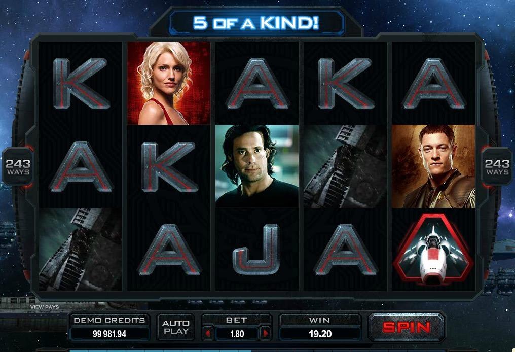 Battlestar Galactica Slot Machine Online