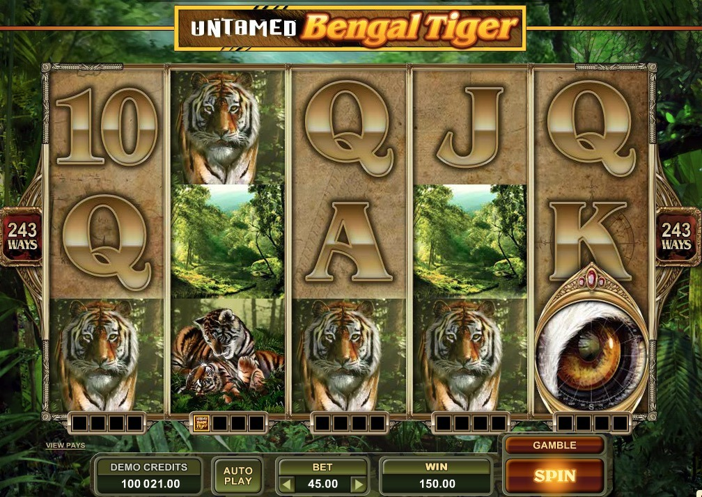 Untamed Bengal Tiger Slot Machine Online