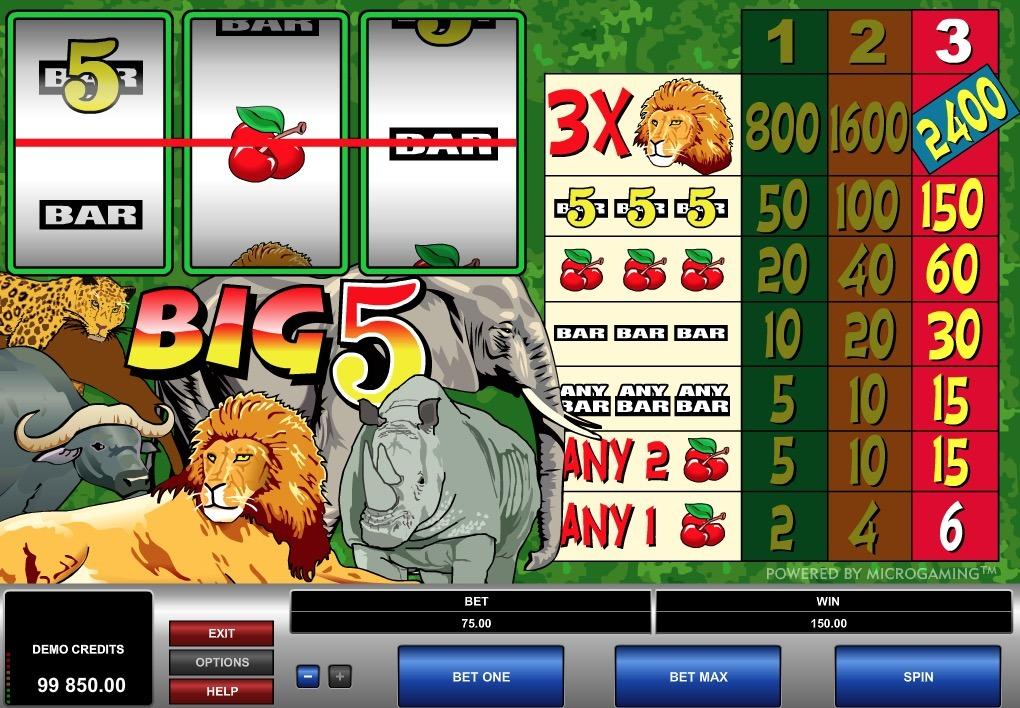 Big 5 Slot Machine Online
