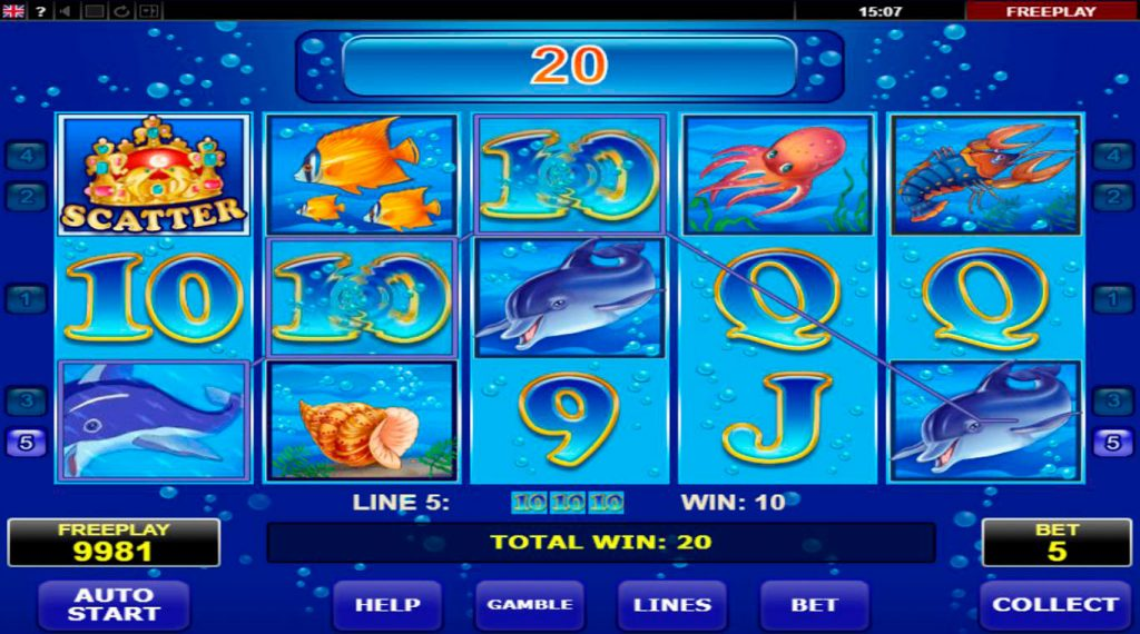 Blue Dolphin Slot Machine Review