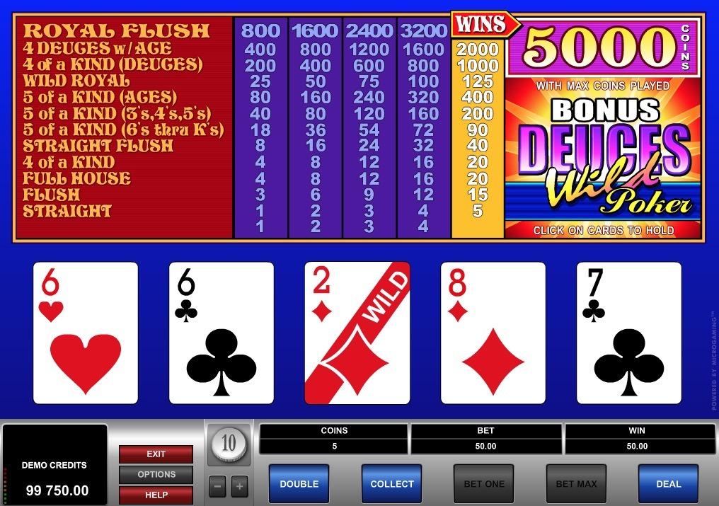 Bonus Deuces Wild Poker Online