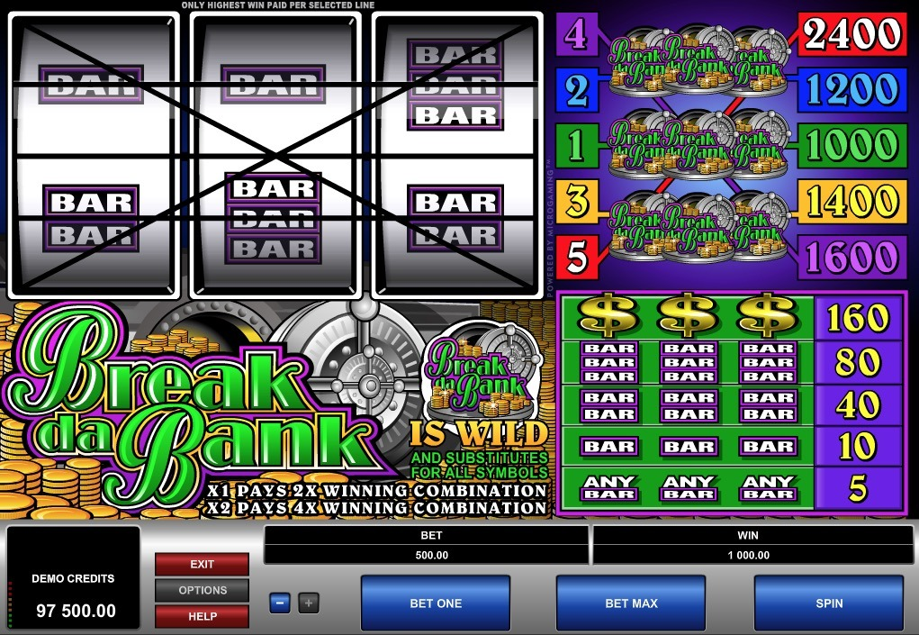Break Da Bank Slot Machine Online