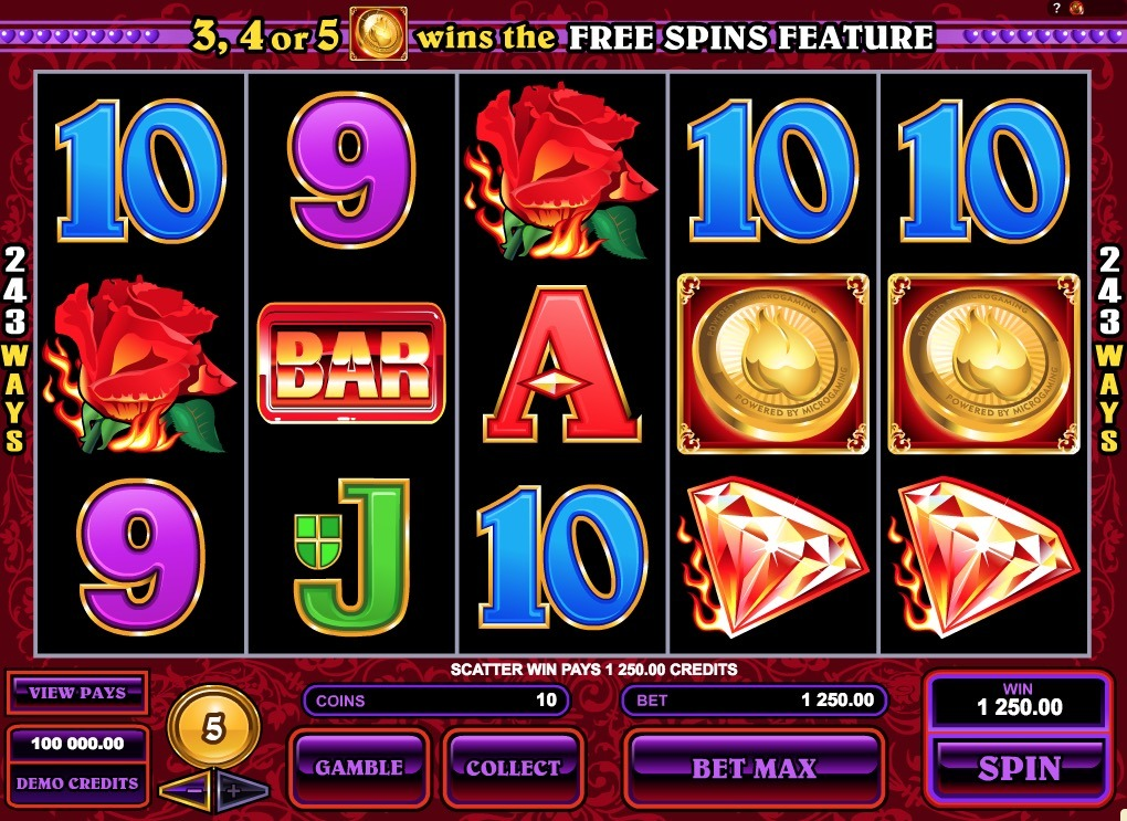 Burning Desire Slot Machine Online