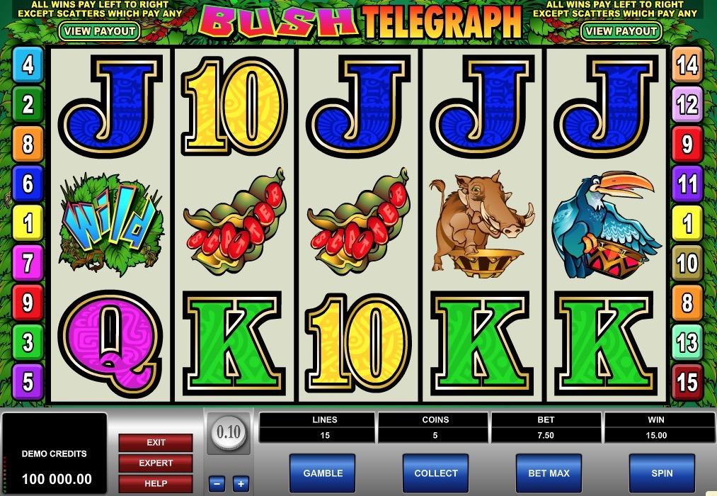 Bush Telegraph Slot Game Online