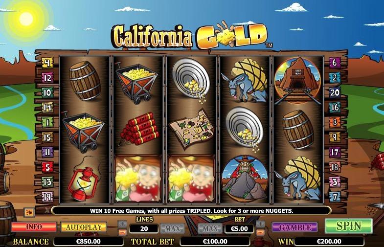 California Gold Slot Machine Online
