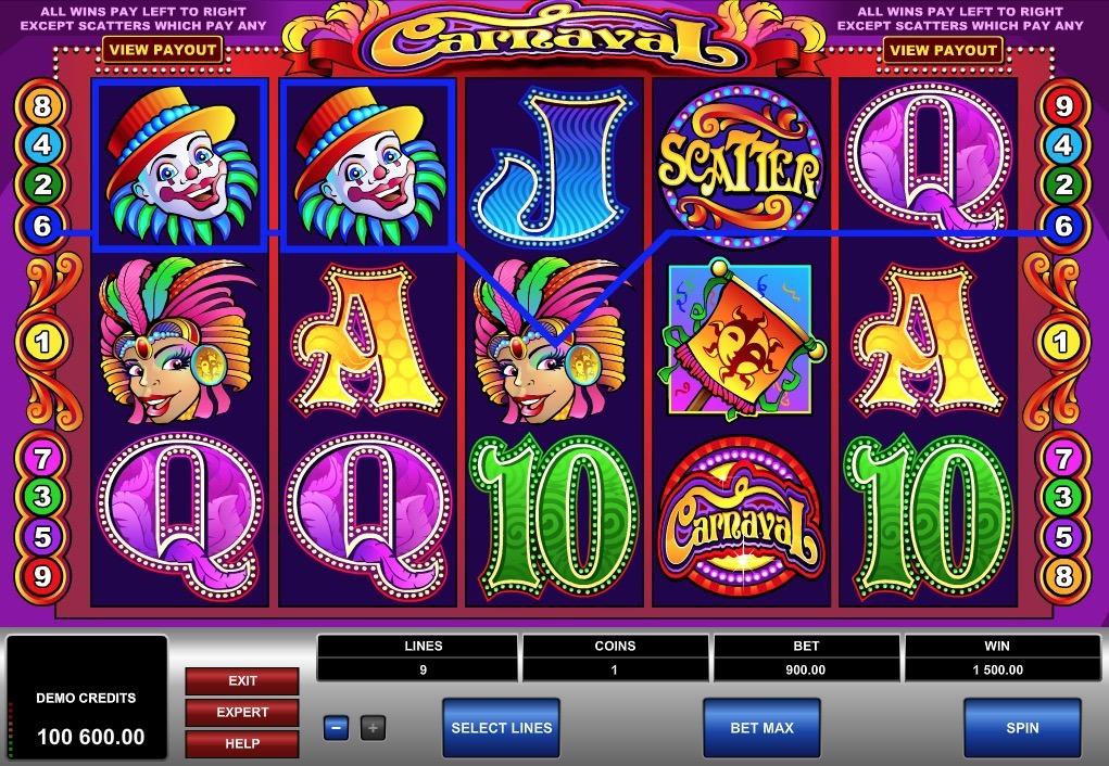Carnaval Slot Game Online