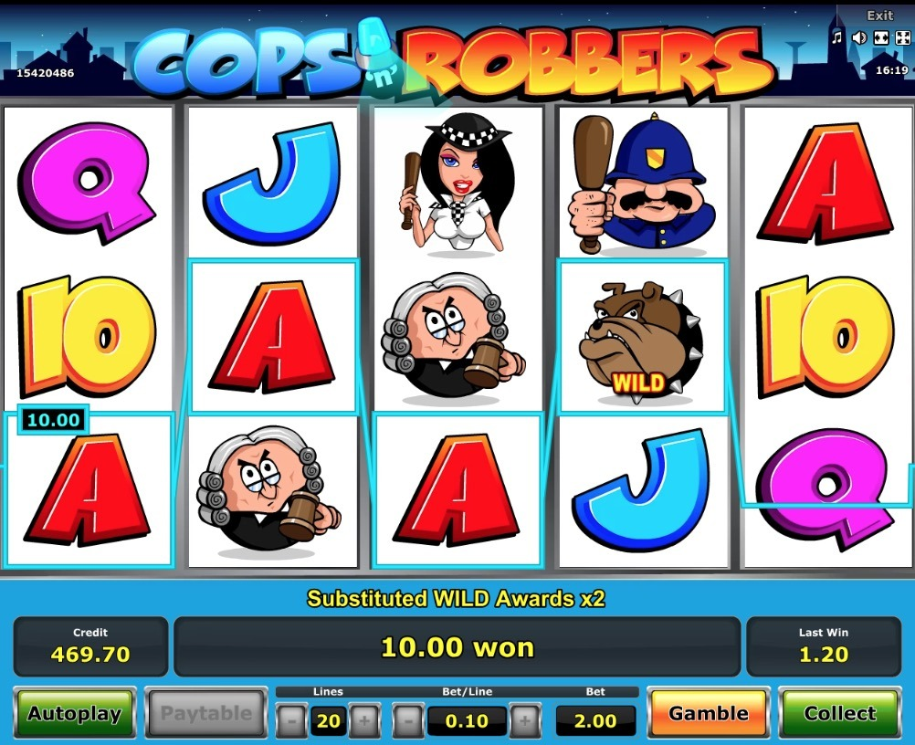 Cops n Robbers Slot Machine Novomatic